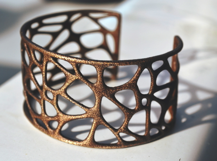Bracelet abstract #4 3d printed
