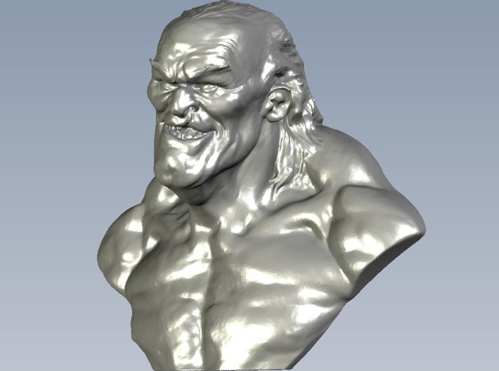 1/9 scale nasty & cunning old man bust 3d printed
