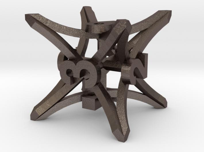 'Radial' D6 balanced gaming die 3d printed