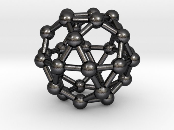 0394 Icosidodecahedron V&E (a=1cm) #003 3d printed