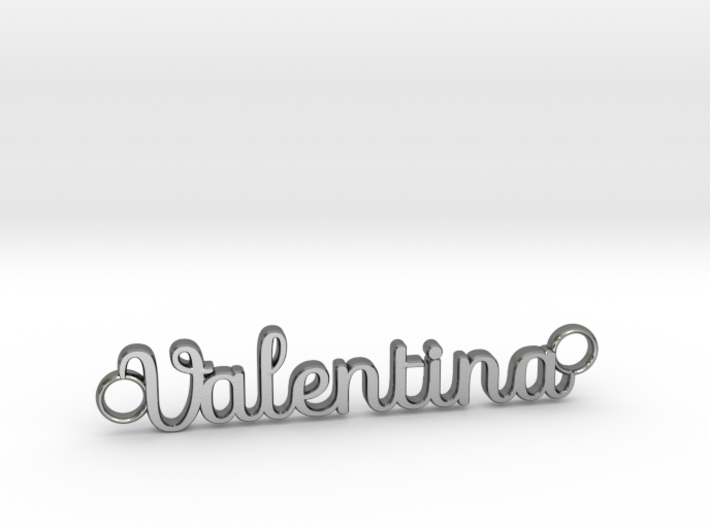 Valentina Name Necklace / Pendant 3d printed