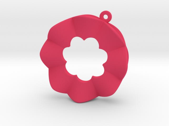 Orecchino Fiore C Sottile 3d printed