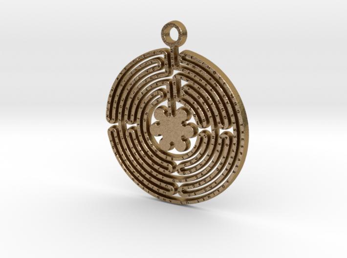 Labyrinth Prayer Pendant 3d printed