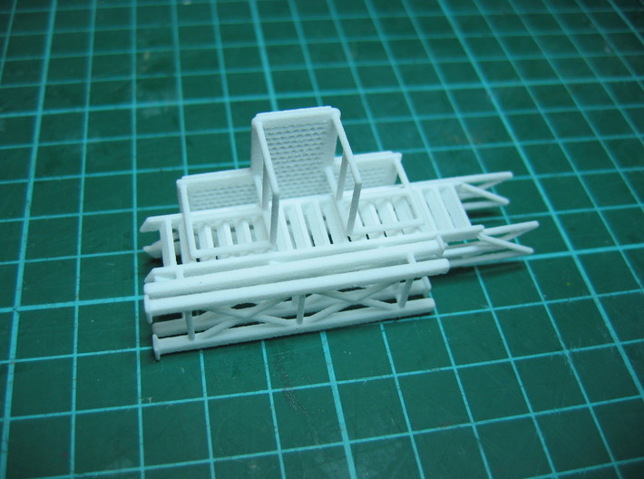 HO 1/87 Loading Platform for depot/industry 3d printed The holes in the platform 'tread' have formed very well considering it's WSF material.