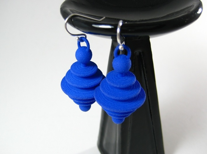 Astro Earrings  3d printed Astro earrings in Royal Blue