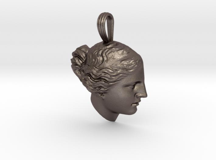 Steel Venus de Milo pendant 3d printed
