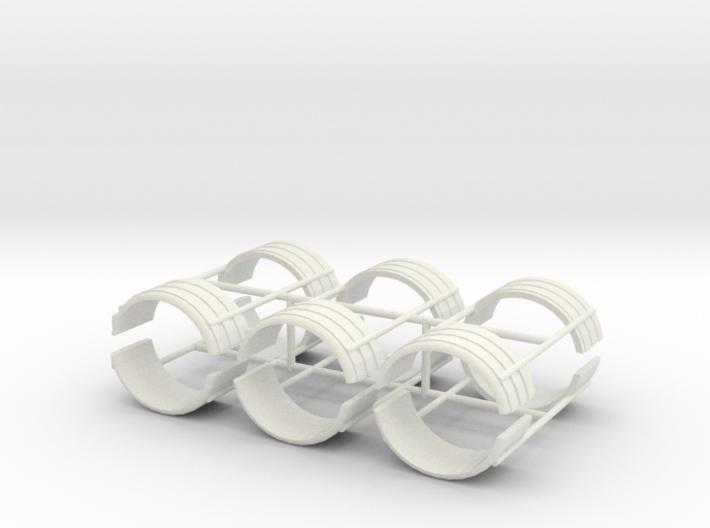1/50th Dual Tire Fenders set of six 3d printed