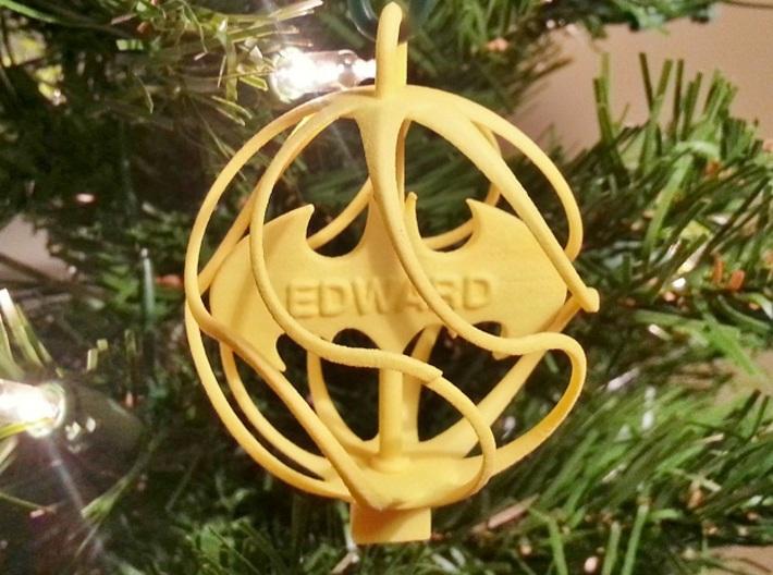 X-Mas Ball - Batman 3d printed EDWARD - Custom Ornament