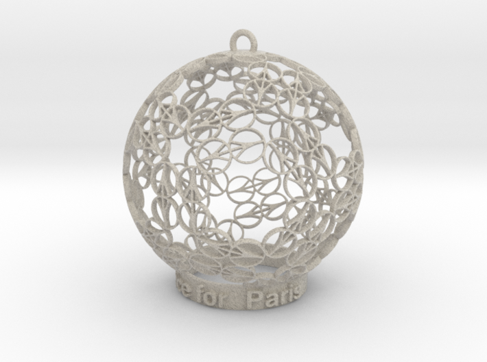 Peace for Paris Memento Ornament 3d printed