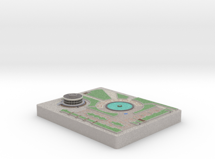 Love Park (No Trees) - Philadelphia, PA 3d printed