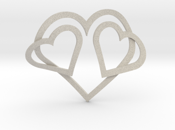 Hearts Necklace / Pendant-05 3d printed
