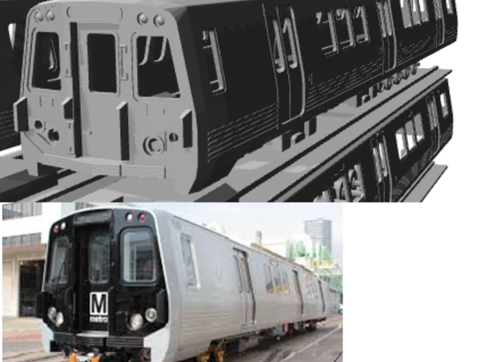 N Scale Washington DC Metro 7000 (4) 3d printed cab of A car