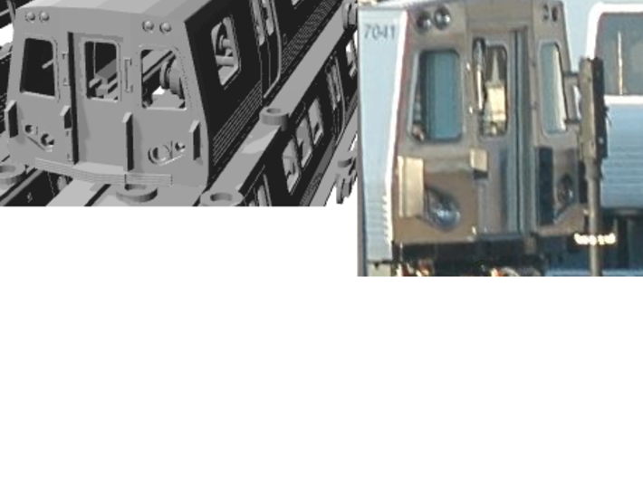 N Scale Washington DC Metro 7000 (4) 3d printed cab of B car