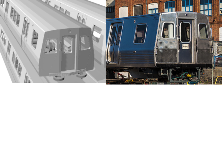 N Scale Washington DC Metro 7000 (4) 3d printed blind end (both A and B cars)