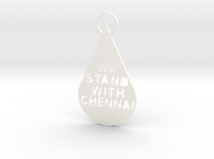 """We Stand With Chennai"" Keychain 3d printed"