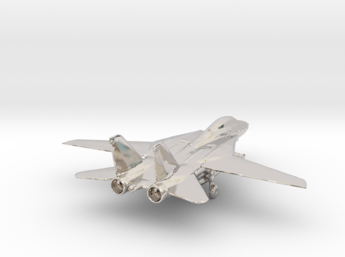 F14 grumman jet gold & precious materials small 3d printed