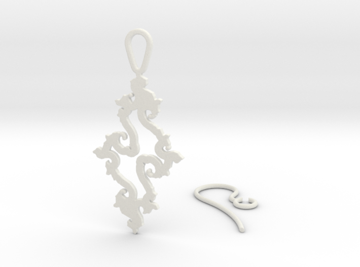 Julia Set Earring 3d printed