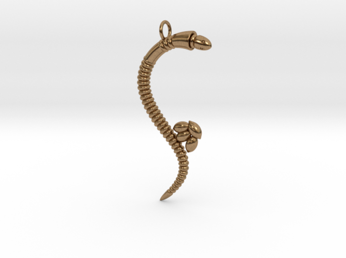 """""""Life of a worm"""" Part 3 - """"Laying eggs"""" pendant 3d printed"""