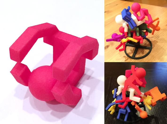 Board Game 'Tsumi Yoga' Block#2 3d printed
