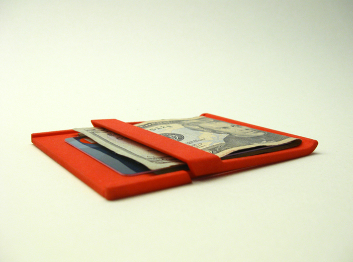 Akio: a wallet/clip 3d printed cash and card