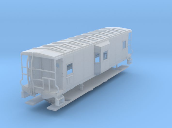 Sou Ry. bay window caboose - Gantt - O scale 3d printed