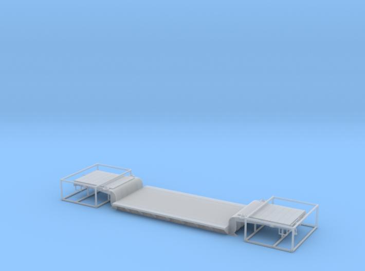 WP&Y Drop Center Flat HOn3 3d printed