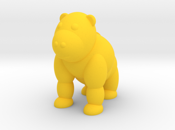 Gorilla (Nikoss'Animals) 3d printed