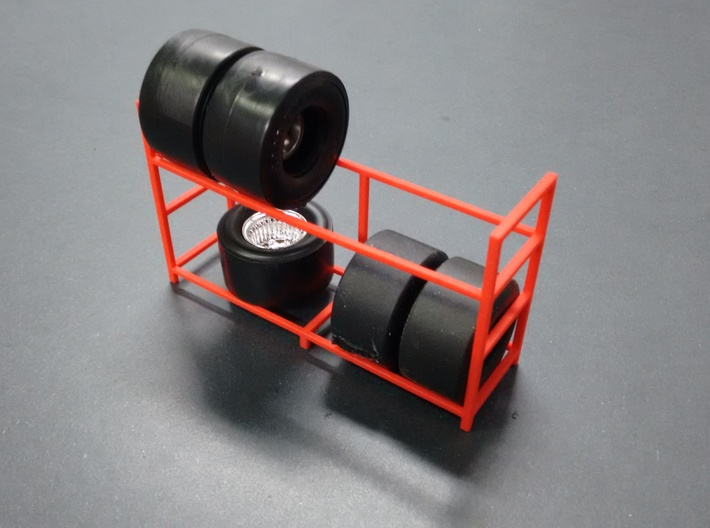 Tire Storage Rack 1/24 - 1/25 Scale Diorama 3d printed