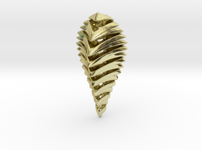skeleton abstract, pendant 3d printed