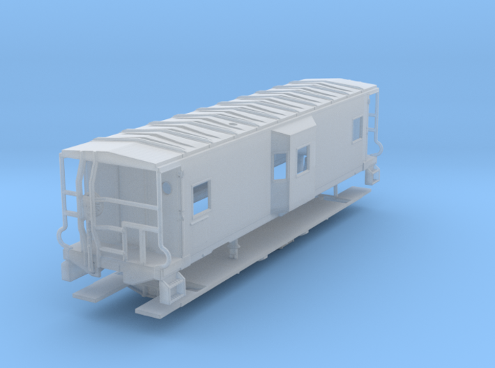 Sou Ry. bay window caboose - Gantt - N scale 3d printed