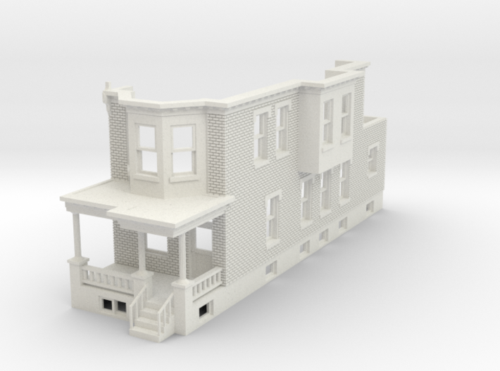 O scale WEST PHILLY ROW HOME END 48 3d printed
