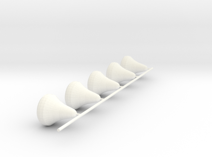 Senet White Pieces Only 3d printed