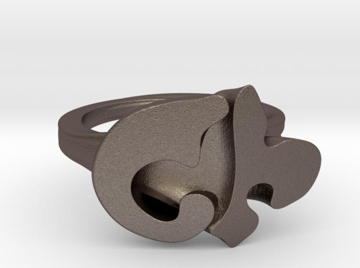 FLEUR RING- SIZE10 3d printed
