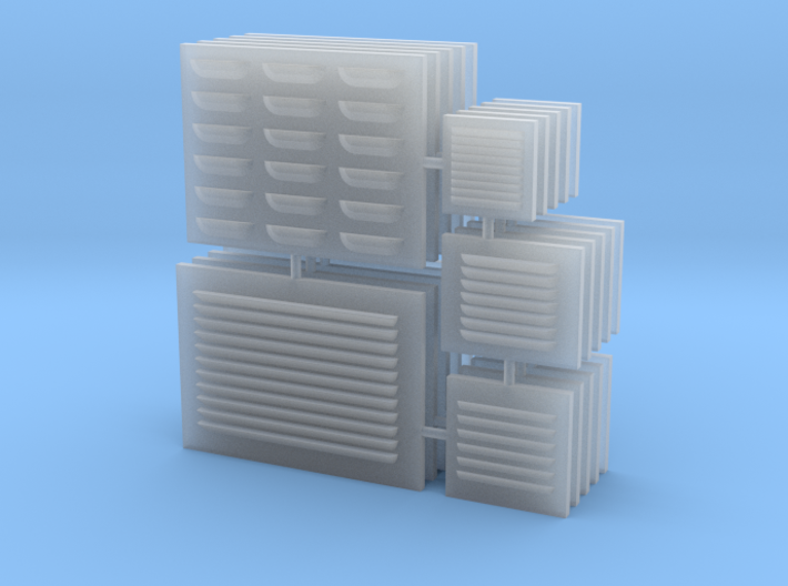 1/18 scale Louver Panels 3d printed