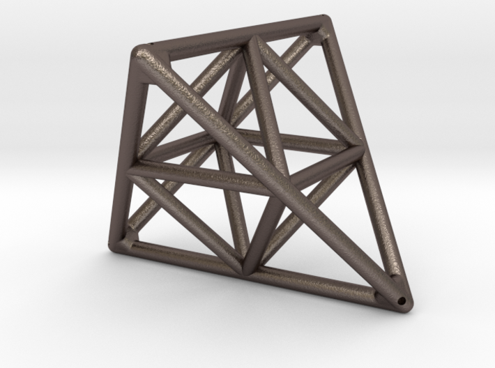 Tetrahedron with Octahedron 3d printed