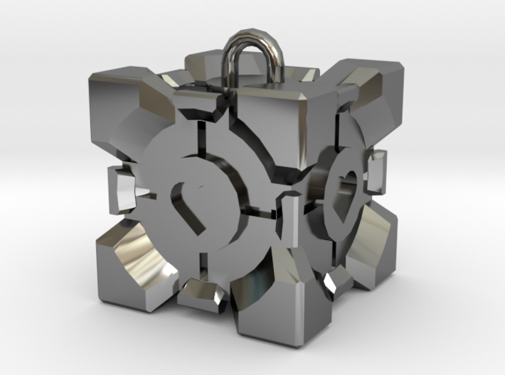 Companion Cube Pendant 3d printed