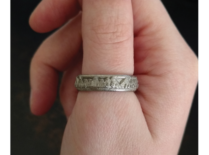 Mountain Landscape Ring, size 7 3d printed