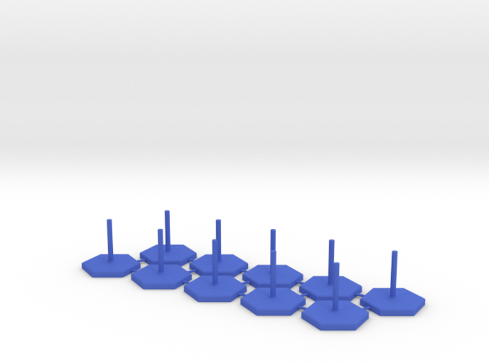 2x5 Hexagon Stands 1 Inch / pole diameter 0,1 3d printed