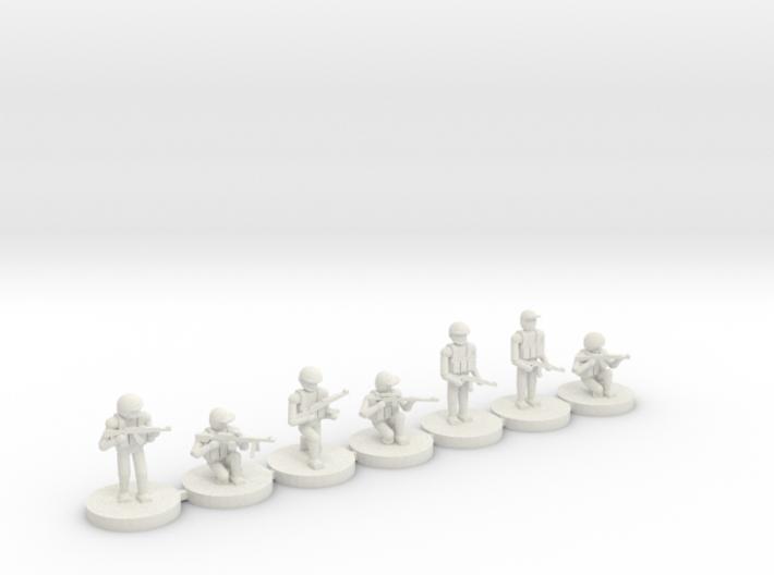 10mm Squad (regulars, SVD, PKM) 3d printed