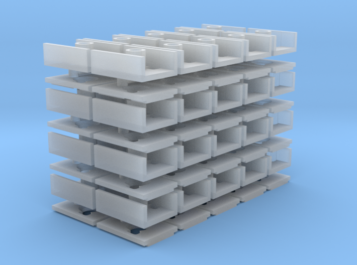 Short Coupler Box (N -1:160) 40X 3d printed