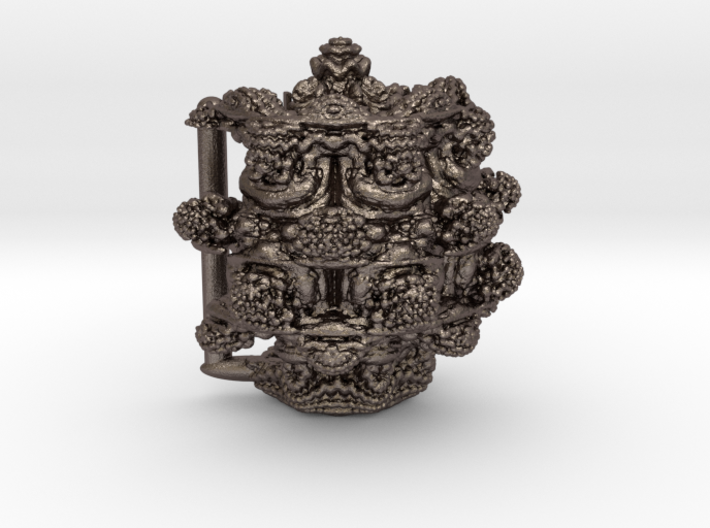 MANDELBULB BELT BUCKLE - Steel Version 3d printed