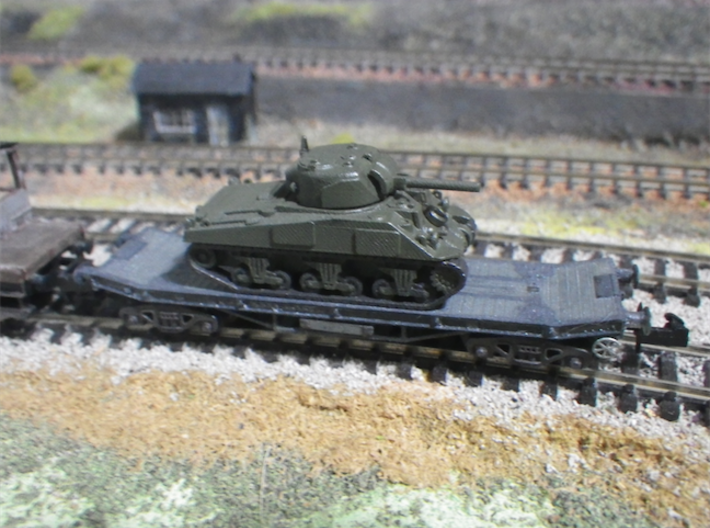 Rectank BR 3d printed With Sherman by special order in 1:152 from Frank at Modellbaueu.