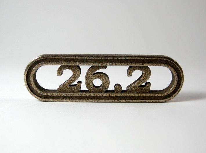 26.2 Marathon Keychain - Better than a car decal! 3d printed