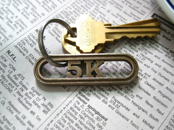 5K Keychain for Runners 3d printed Key Chain for Runners