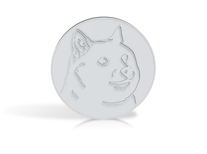 Dogecoin 3d printed