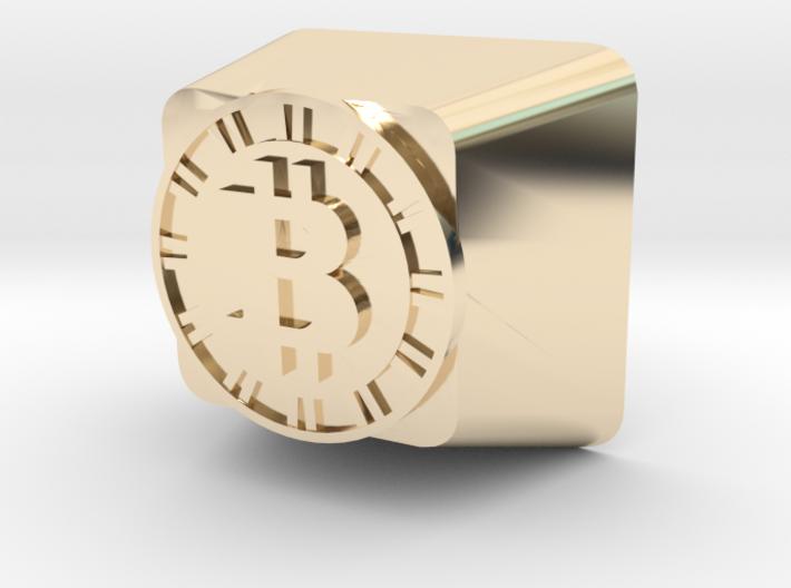 Bitcoin Cherry MX Keycap 3d printed