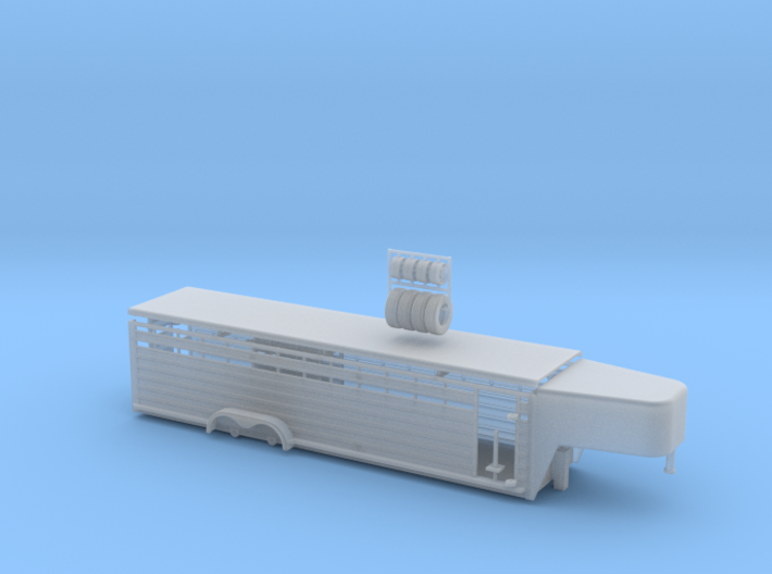 1/64 30' Cattle Trailer Round Nose 3d printed