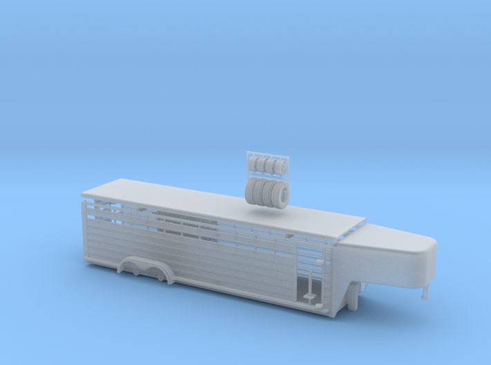 1/64 28' Cattle Trailer Round Nose 3d printed