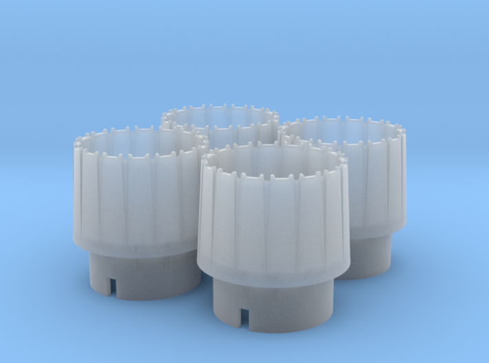 WING-X REBELL 1/29 EASYKIT ENGINE NOZZLES 3d printed