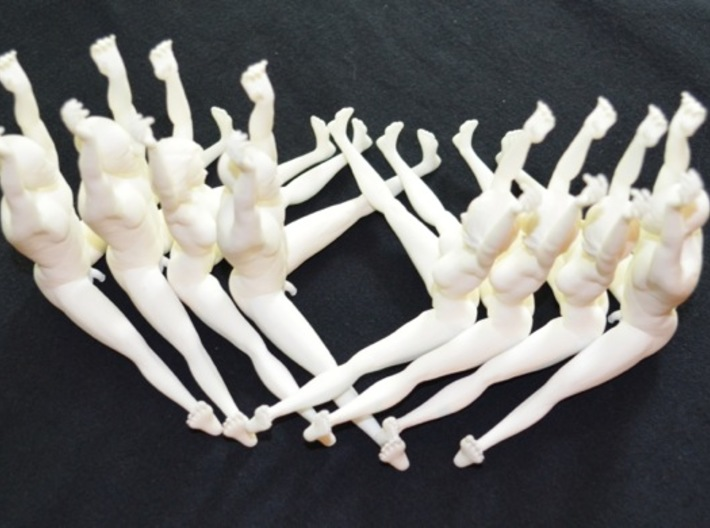 The Human Cube - 2 female elements - Naked Geometr 3d printed Order several male and female models and experiment!